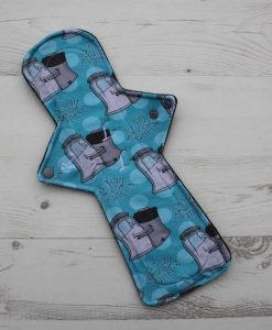14″ Flared Sub Regular Flow cloth pad | A Salt and Battery Cotton Jersey | Black Wind Pro Fleece 1