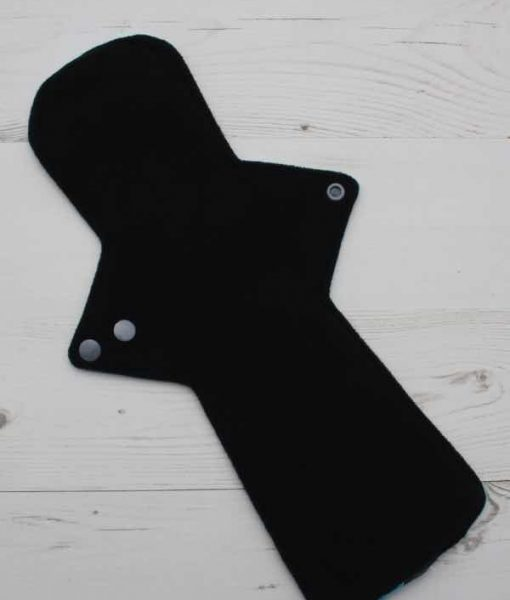 14″ Flared Sub Regular Flow cloth pad | A Salt and Battery Cotton Jersey | Black Wind Pro Fleece 3