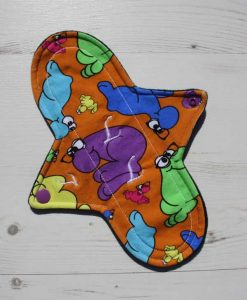 9″ Sub Light Flow cloth pad | Wiggly Woos Cotton Jersey | Black Wind Pro Fleece 1