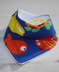 Fishes Cotton Dribble Bib 1