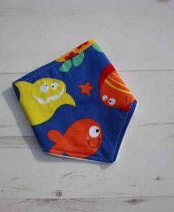 Fishes Cotton Dribble Bib 2