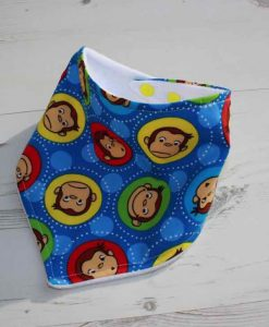 Curious George Cotton Dribble Bib 1