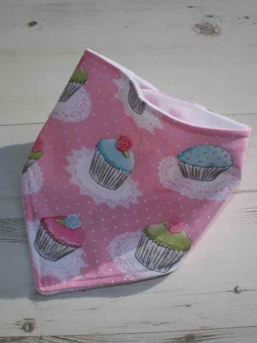 Pink Cupcakes Dribble Bib 1