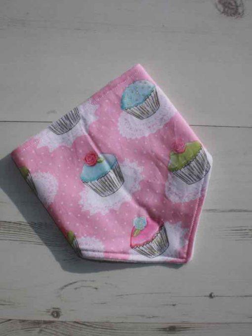 Pink Cupcakes Dribble Bib 2