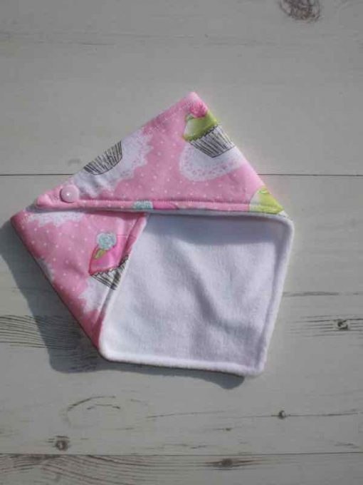 Pink Cupcakes Dribble Bib 3