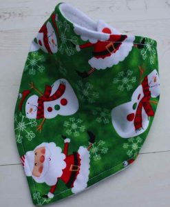 Snowman and Santa Dribble Bib