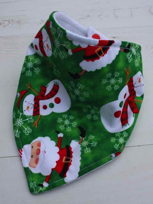 Snowman and Santa Dribble Bib 1