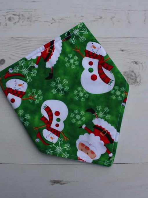 Snowman and Santa Dribble Bib 2