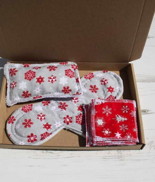 Silver Snowflake Cotton Gift Box