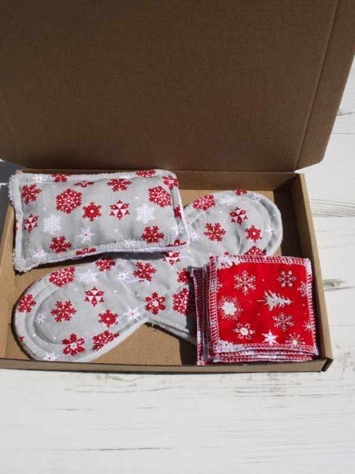 Silver Snowflake Cotton Gift Box