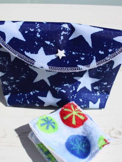 Blue Stars Make Up Bag and Wipes