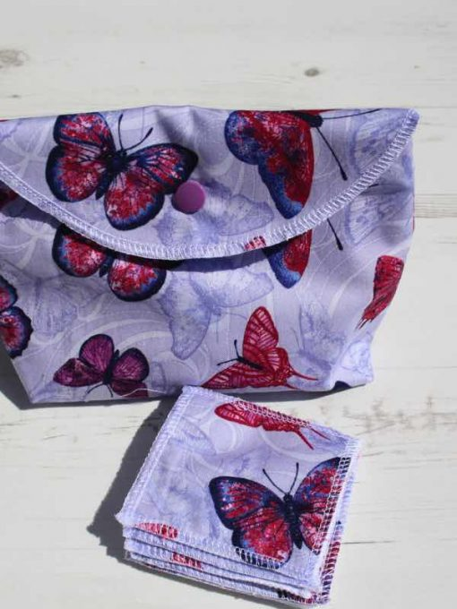 Butterfly Make Up Bag and Wipes