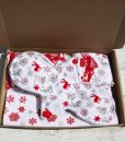 Snowflakes and Reindeers Cotton Gift Box
