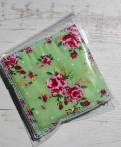 Roses on Mint Make-up remover wipes – set of 5