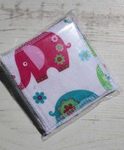 Patchwork Elephants Make-up remover wipes – set of 5
