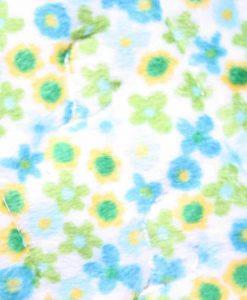 11″ Sub Heavy Flow cloth pad | Yellow Green Flowers Plush | Blue Wind Pro Fleece 2