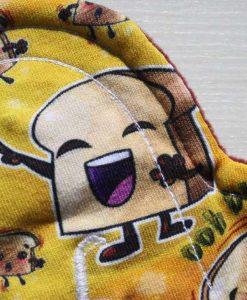 "6"" Sub Liner cloth pad | Ooh burrrn Cotton Jersey | Burgundy Wind Pro Fleece"