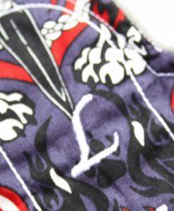 "6"" Sub Liner cloth pad | Skulls and Flames Cotton | Charcoal Polar Fleece"