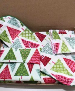 Graphic Christmas Trees Cotton Gift Box