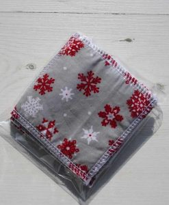 Silver Snowflakes Make-up remover wipes – set of 5