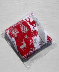 Reindeer and Trees Make-up remover wipes - set of 5