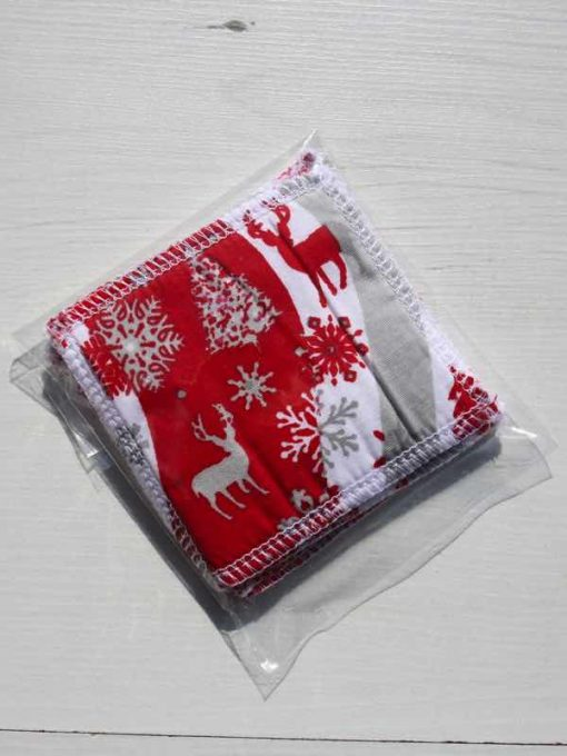 Reindeer and Trees Make-up remover wipes – set of 5