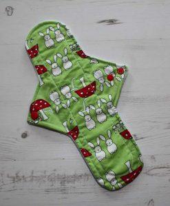 12″ Sub Light Flow cloth pad   Bunnies on Mint Cotton   Mint Wind Pro Fleece 1