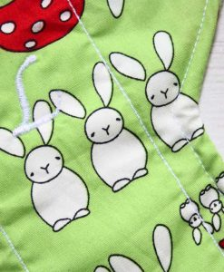 12″ Sub Light Flow cloth pad | Bunnies on Mint Cotton | Mint Wind Pro Fleece 2