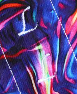 "8"" Sub Liner cloth pad | KaleidoSmoke Firewater Cotton Jersey | Red Wind Pro Fleece"