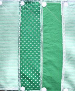 Stars and Stripes Green - Reusable Kitchen Towel - Set of 6