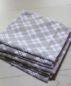 Grey Plaid - Family cloth - Set of 7