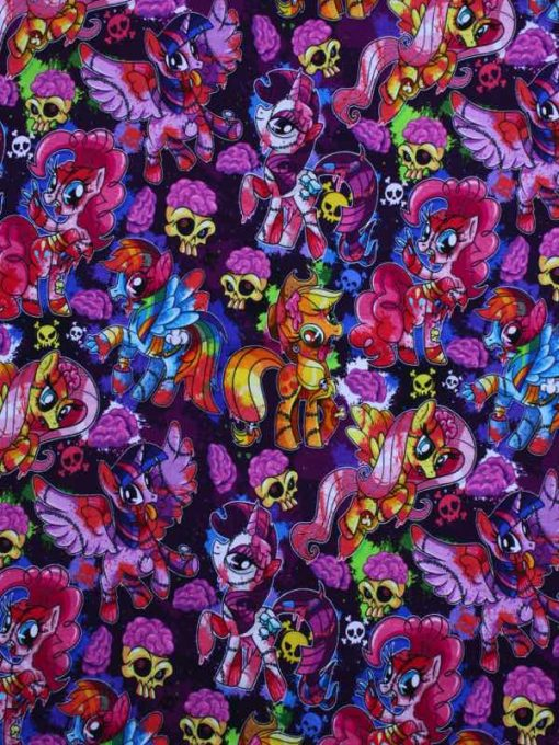 Custom made reusable cloth menstrual sanitary pad (CSP) | Fabric: Top layer - Cotton Jersey, Design: Pony Apocalypse