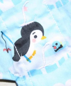 "8"" Slim Sub Liner cloth pad | Baby Penguin Cotton | Blue Wind Pro Fleece"
