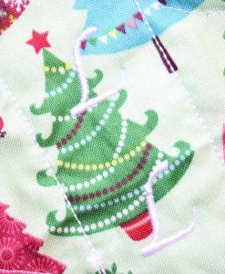"8"" Slim Sub Liner cloth pad | Christmas Tree Forest Cotton | Mint Wind Pro Fleece"