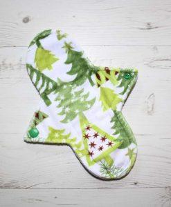 9″ Sub Liner cloth pad   Christmas Tree Forest Plush   Silver Grey Wind Pro Fleece 1