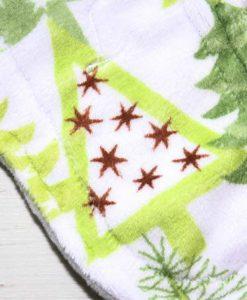 "9"" Sub Liner cloth pad | Christmas Tree Forest Plush | Silver Grey Wind Pro Fleece"