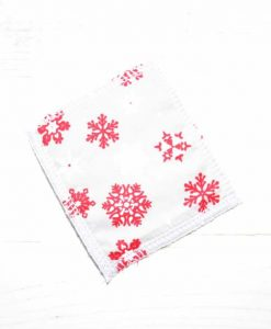 Snowflakes on Silver Make-up remover wipes - set of 5