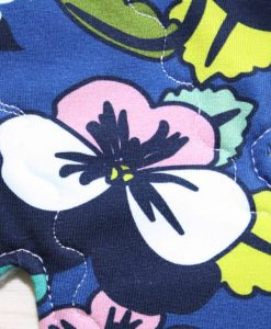 10″ Heavy Flow cloth pad | Flowers Cotton Jersey | Aqua Polar Fleece | 2