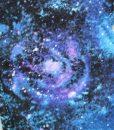 10″ Overnight Extra Heavy Flow cloth pad | Distant Galaxies Cotton | Azure Polar Fleece |  2