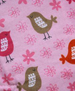 10″ Regular Flow cloth pad | Tweet Cotton | Pink Polar Fleece | 2