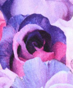 11″ Regular Flow cloth pad | Lilac Roses Cotton Jersey | Lilac Polar Fleece | Standard 2