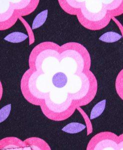 11″ Regular Flow cloth pad | Pink Flowers Cotton Jersey | Lilac Polar Fleece | Standard 2