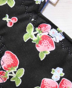11″ Regular Flow cloth pad | Strawberry Blooms Cotton | Blue Polar Fleece | 2