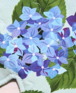 12″ Heavy Flow cloth pad | Bue Posy Cotton Jersey | Aqua Polar Fleece | 2