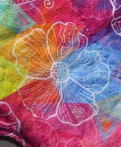 12″ Heavy Flow cloth pad   Flower Sketch Cotton Jersey   Indigo Wind Pro Fleece   2