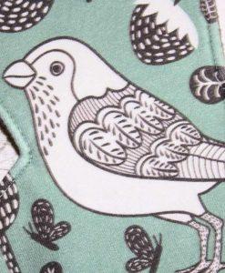 12″ Heavy Flow cloth pad | Wren Cotton Jersey | Black Wind Pro Fleece | Standard 2
