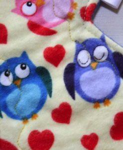 13″ Regular Flow cloth pad | Hoots Cotton Flannel | Blue Polar Fleece | 2