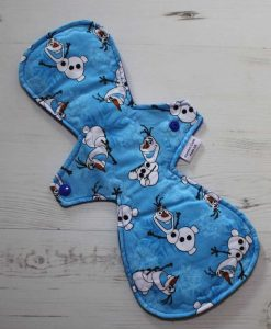 13″ Regular Flow cloth pad | Olaf Cotton | Blue Polar Fleece | 1