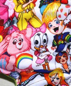 14″ Heavy Flow cloth pad | Manga Girls Cotton Jersey | Lime Green Polar Fleece | Moonglow 2