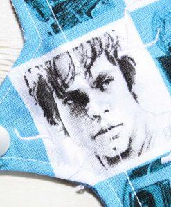 6″ Light Flow cloth pad | Star Wars Checkerboard Cotton | Blue Wind Pro Fleece | Sub 2